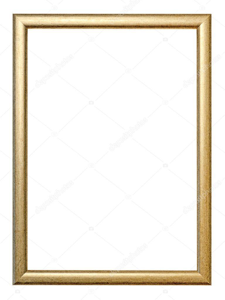 cuadro vintage dorado aislado en blanco — Foto de stock © beachboy ...