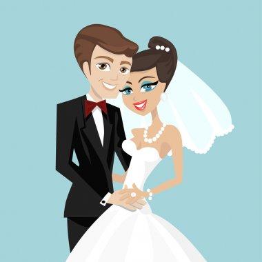 Wedding couple vector clip art vector
