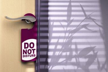 Do not disturb, door handler, sign