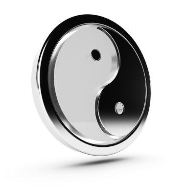 Yin yang 3d symbol