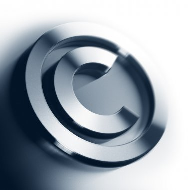 Copyright symbol background