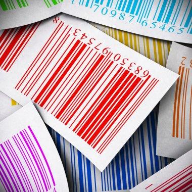 Multicolored bar codes square image