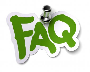 Green FAQ sticker