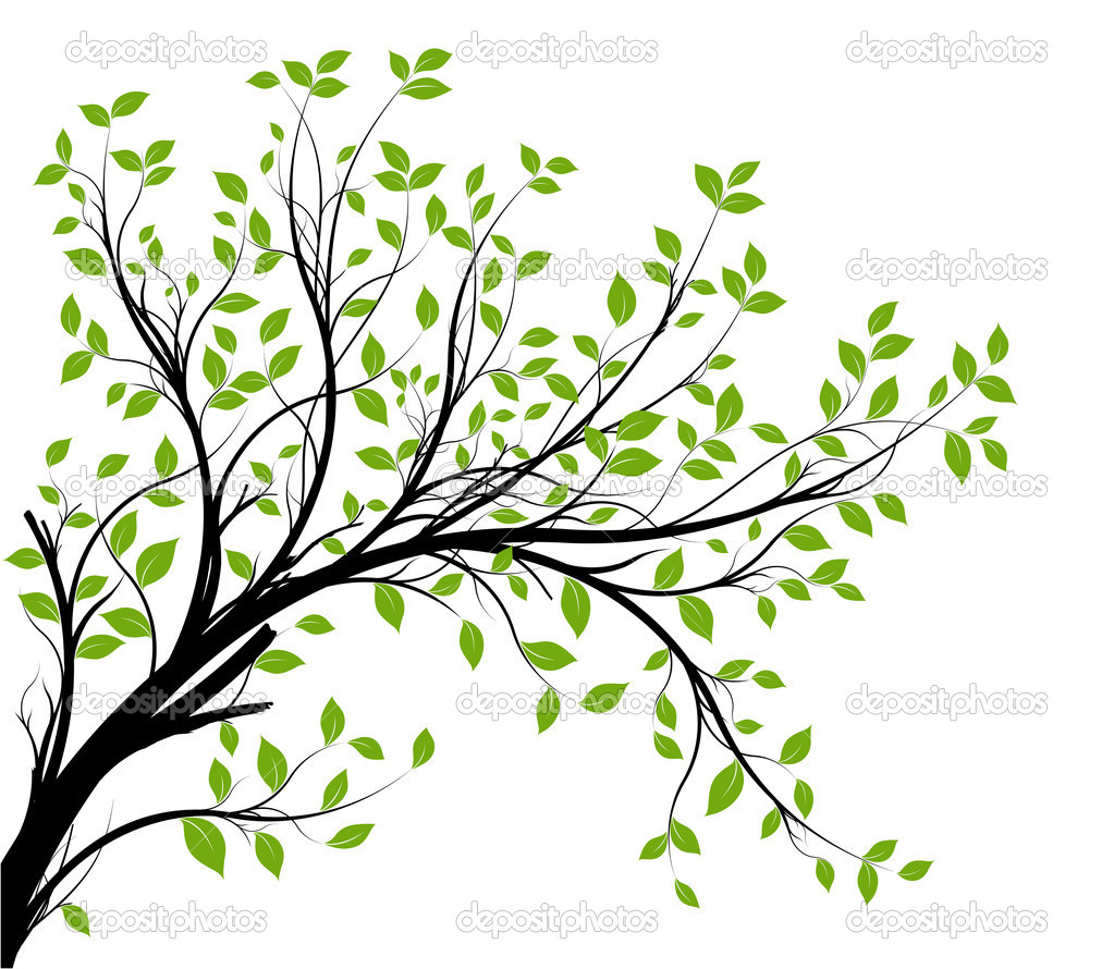 decorative branch silhouette