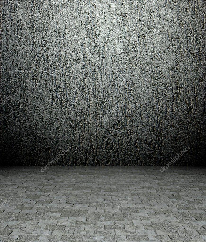 Beton Putz 3d putz und beton textur leeren inneren stockfoto leszekglasner