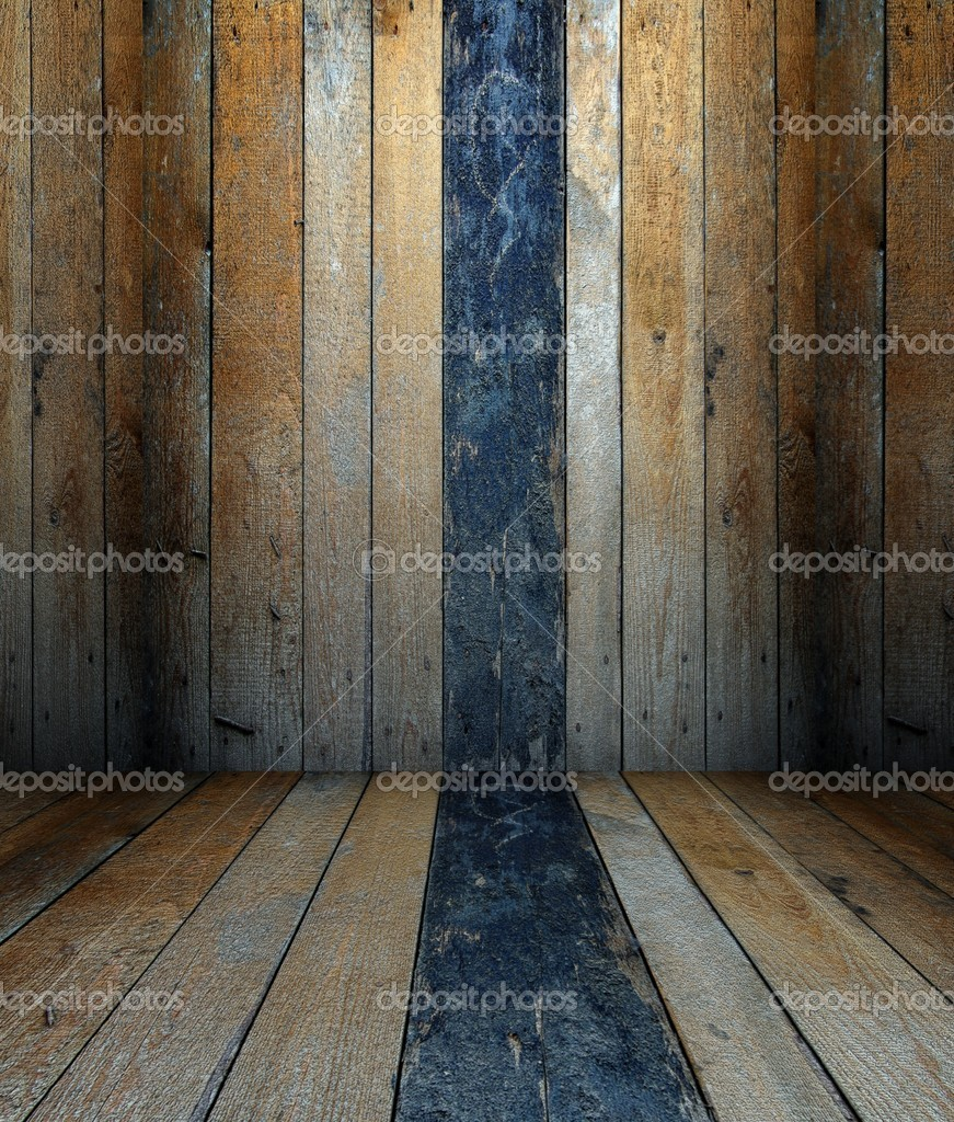3d Wall With Wooden Shutters Texture Empty Interior Stock