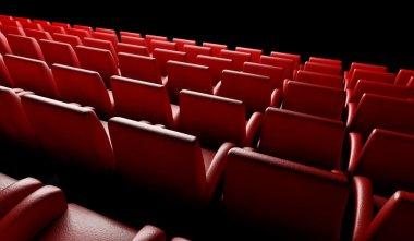 Empty cinema hall with auditorium
