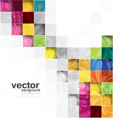Abstract vector seamless blocks floral structure design clip art vector