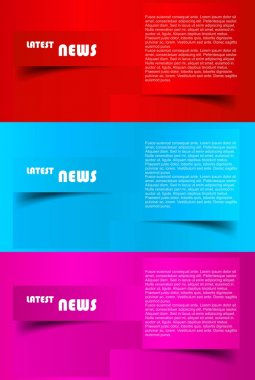 Design of advertisement brochure vector