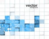Fotografie abstraktní lesk květinové mozaiky modré barevné pozadí vektor