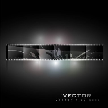 Abstract realistic vector shiny film reel