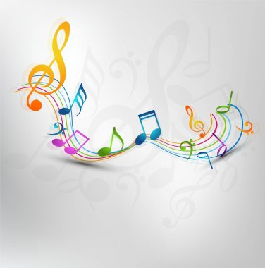 Colorful music notes fantastic