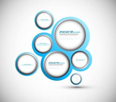Abstract web design new circle bubble vector