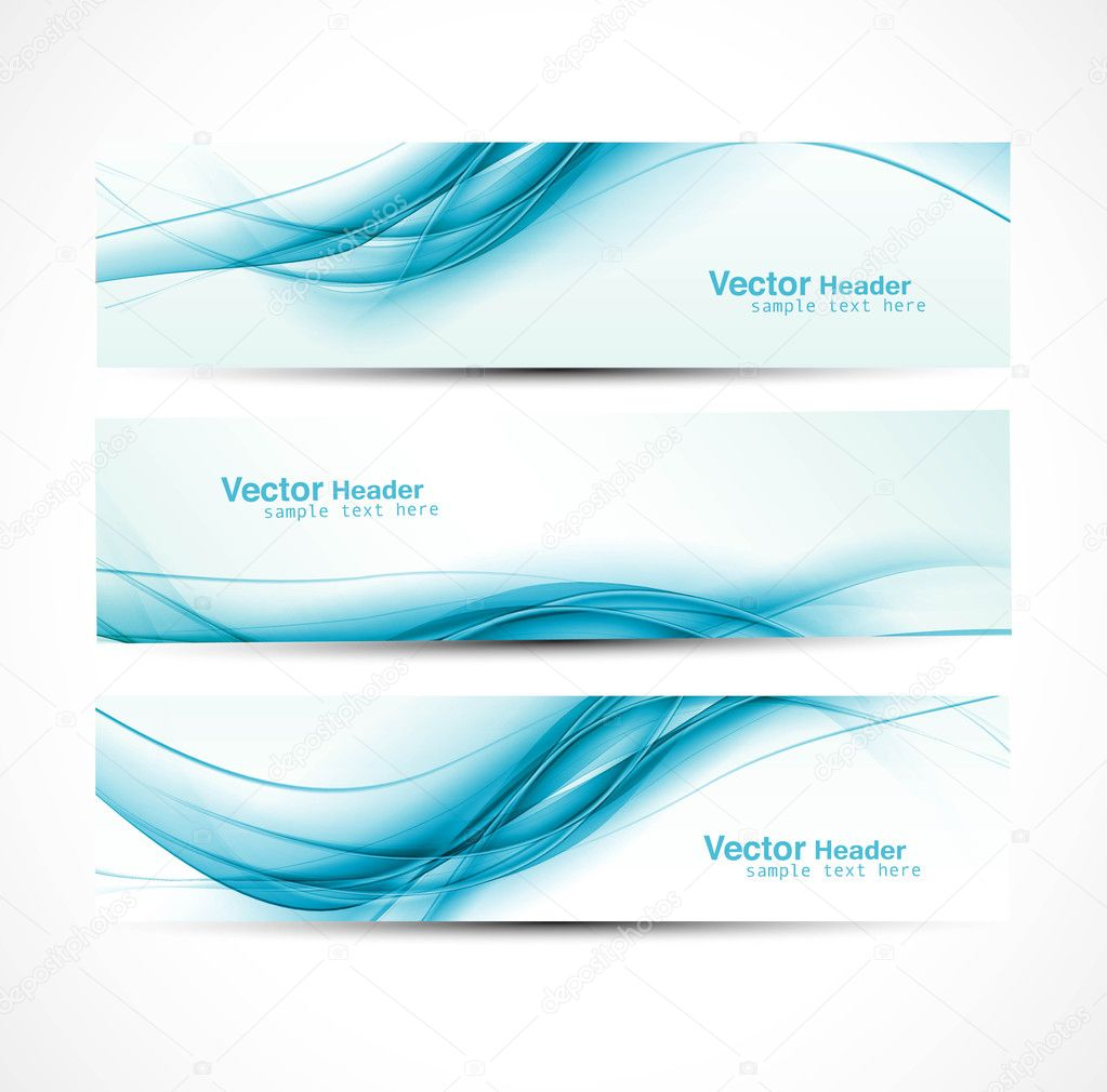 Abstract new wave header vector set