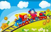 Fotografia treno giocattolo