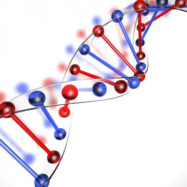 DNA structure made of glass