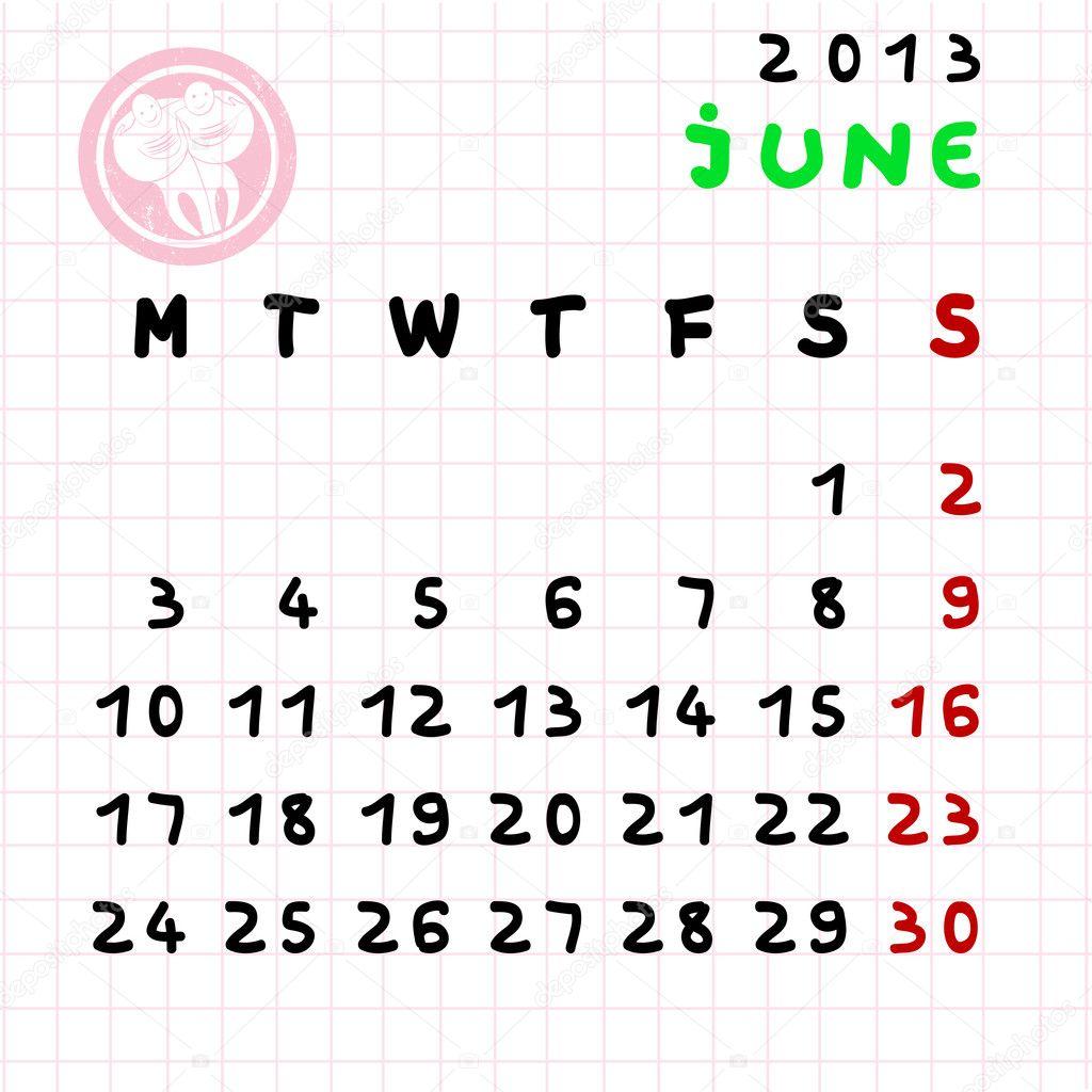 Juni 2013 Stockfotografi Richcat 10273604