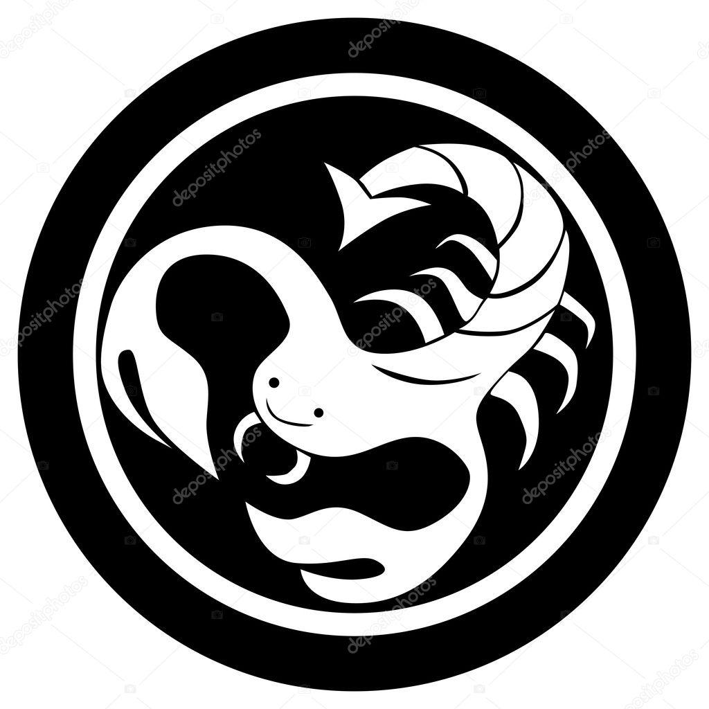 Znak Zodiaku Tatuaż Skorpion Zdjęcie Stockowe Richcat