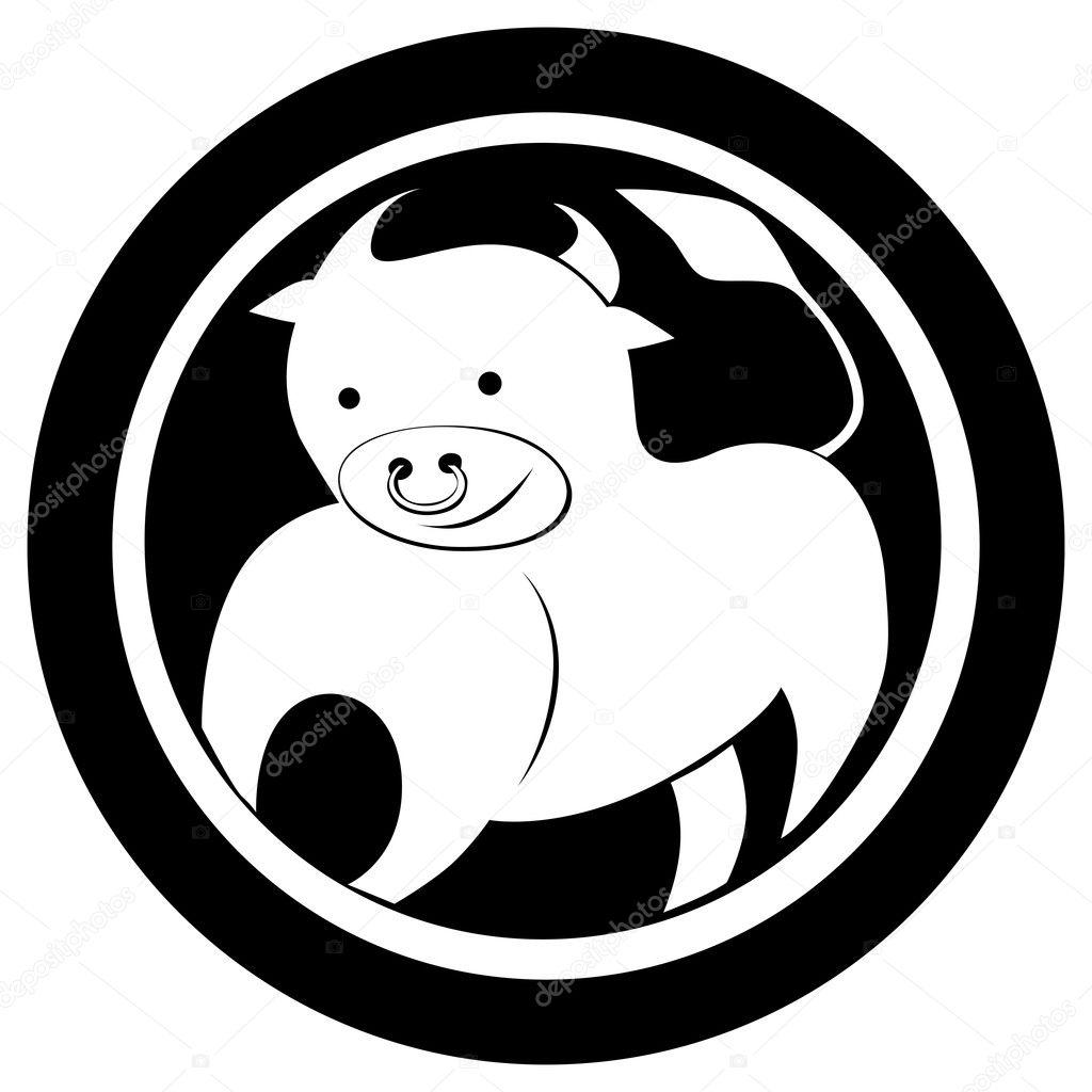 Znak Zodiaku Byk Tatuaż Zdjęcie Stockowe Richcat 10275605