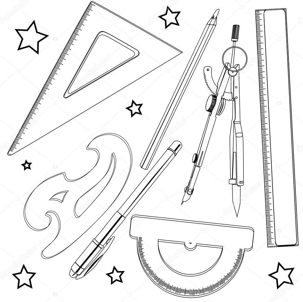útiles escolares — Foto de stock © richcat #10275926