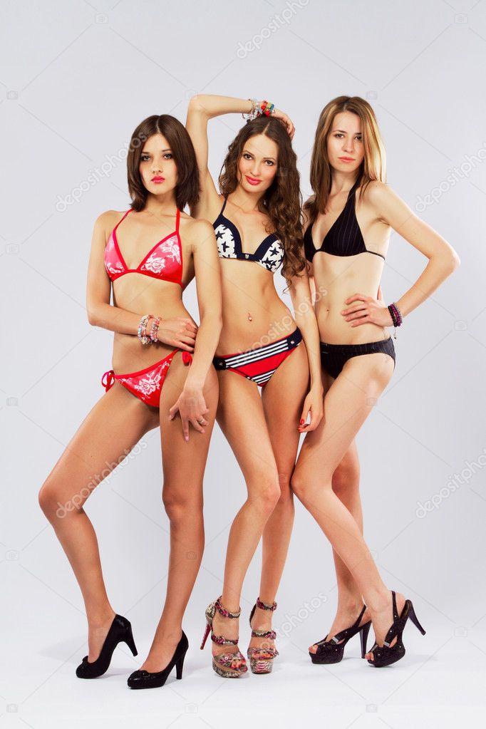 Beautiful models in bikini