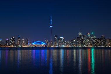 Toronto night skyline Tower downtown skyscrapers night view