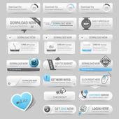 Fotografie Webové prvky šablony návrhu: navigační tlačítka s prvky, ozdoba
