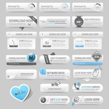 Web site navigation elements stock vector