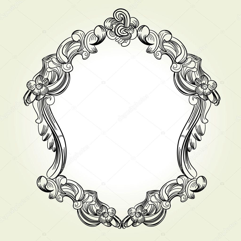 marco victoriano clásico vintage — Archivo Imágenes Vectoriales ...