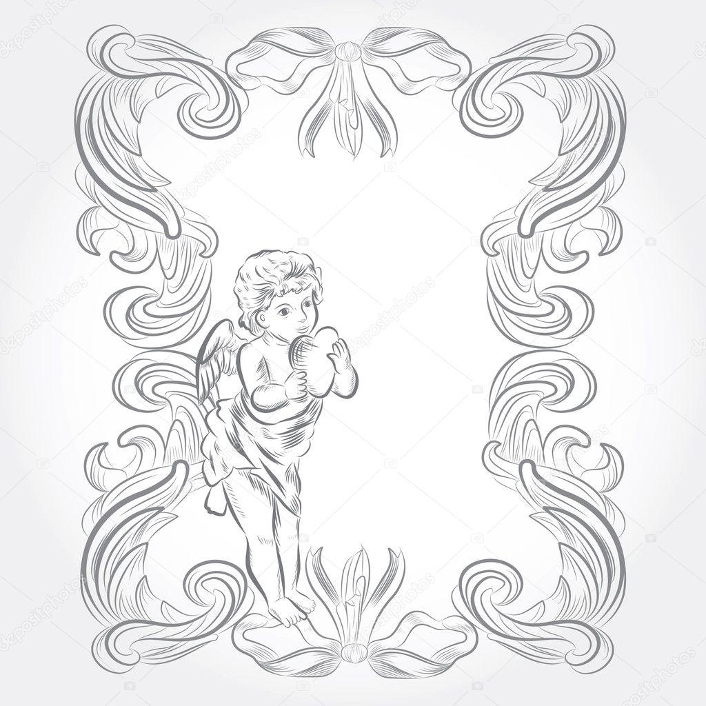 Marco angel lindo — Vector de stock © quinky #9360284