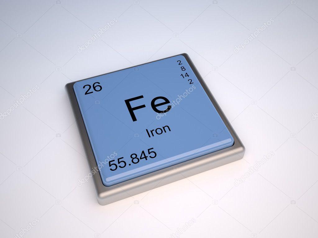 el elemento qumico del hierro de la tabla peridica con el smbolo fe foto de conceptw - Tabla Periodica De Los Elementos Hierro