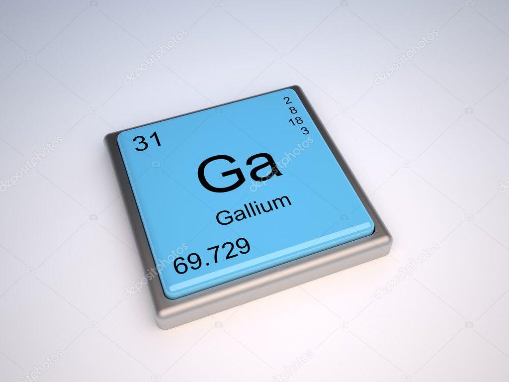 elemento qumico galio de la tabla peridica con el smbolo ga foto de conceptw - Tabla Periodica De Los Elementos Galio