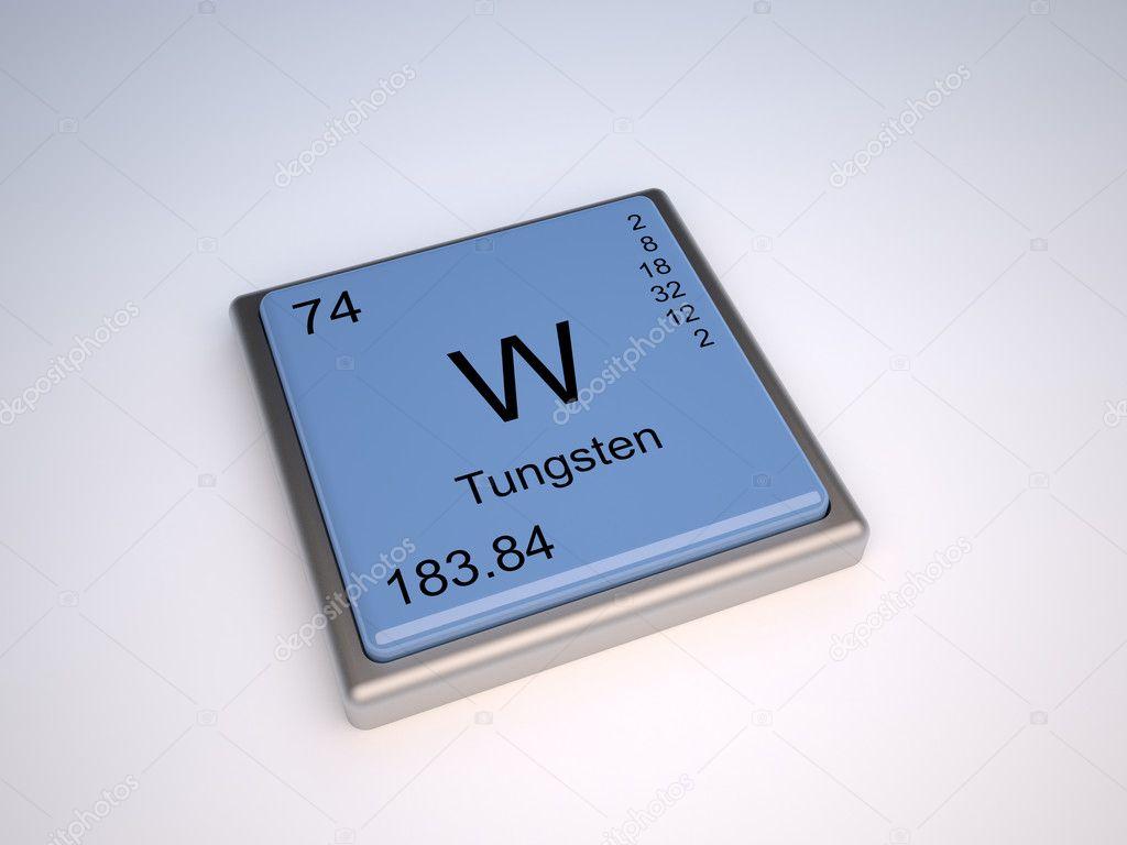 Tungsten Wolfram Stock Photo Conceptw 9624272