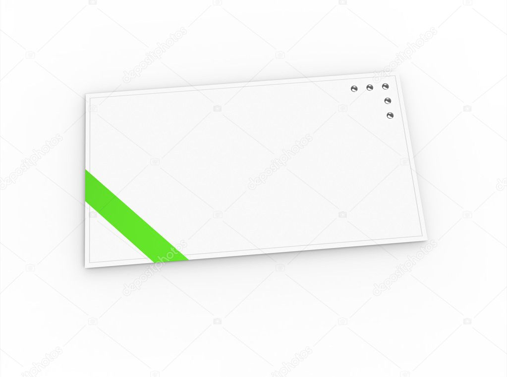 blank greeting card for greeting or congratulation ストック写真