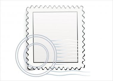 Blank postage stamps.