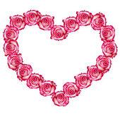 Růže rámeček ve tvaru srdce