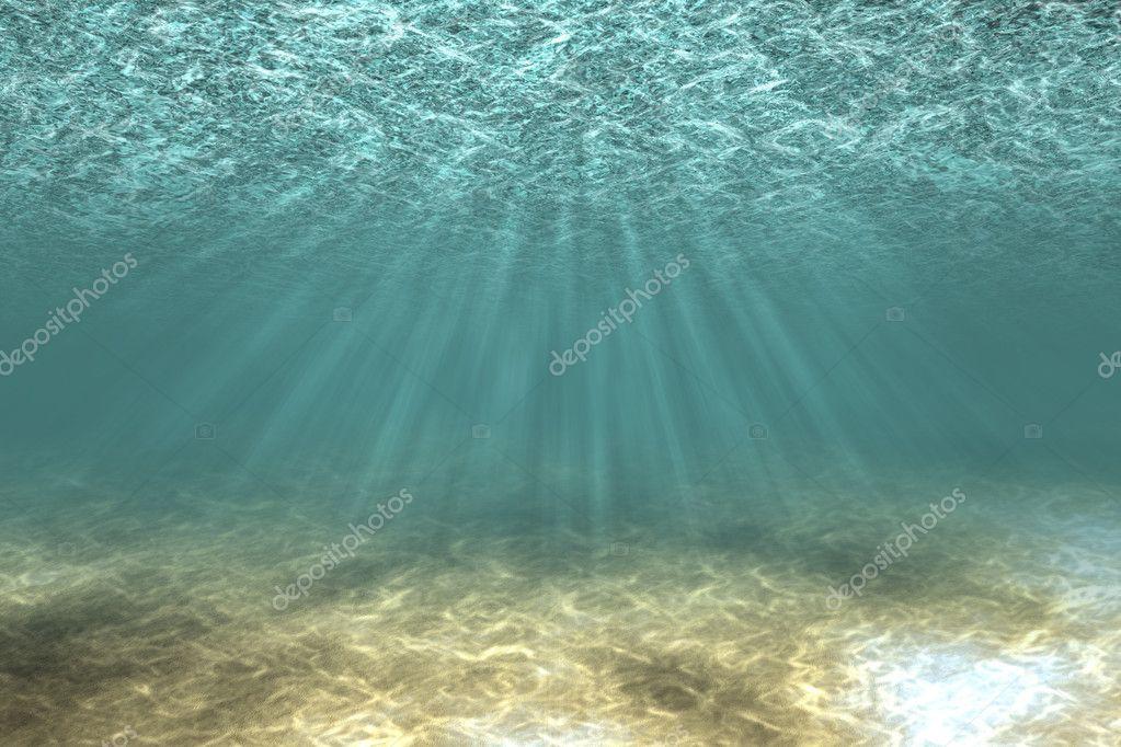 Sandy bottom underwater