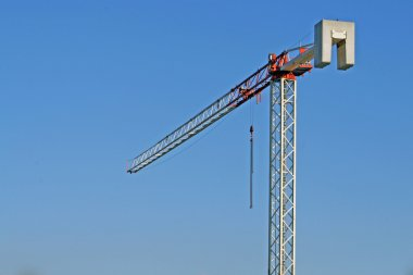 High Crane iron and steel used in a construction site