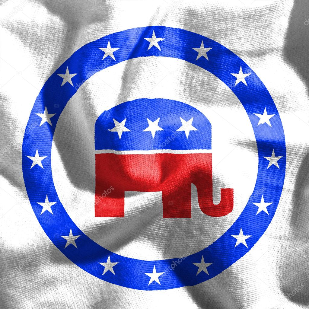 Republican Flag The Symbol For The Democratic Party In The Us