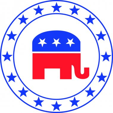 Election label - the symbol for the democratic party in the US.