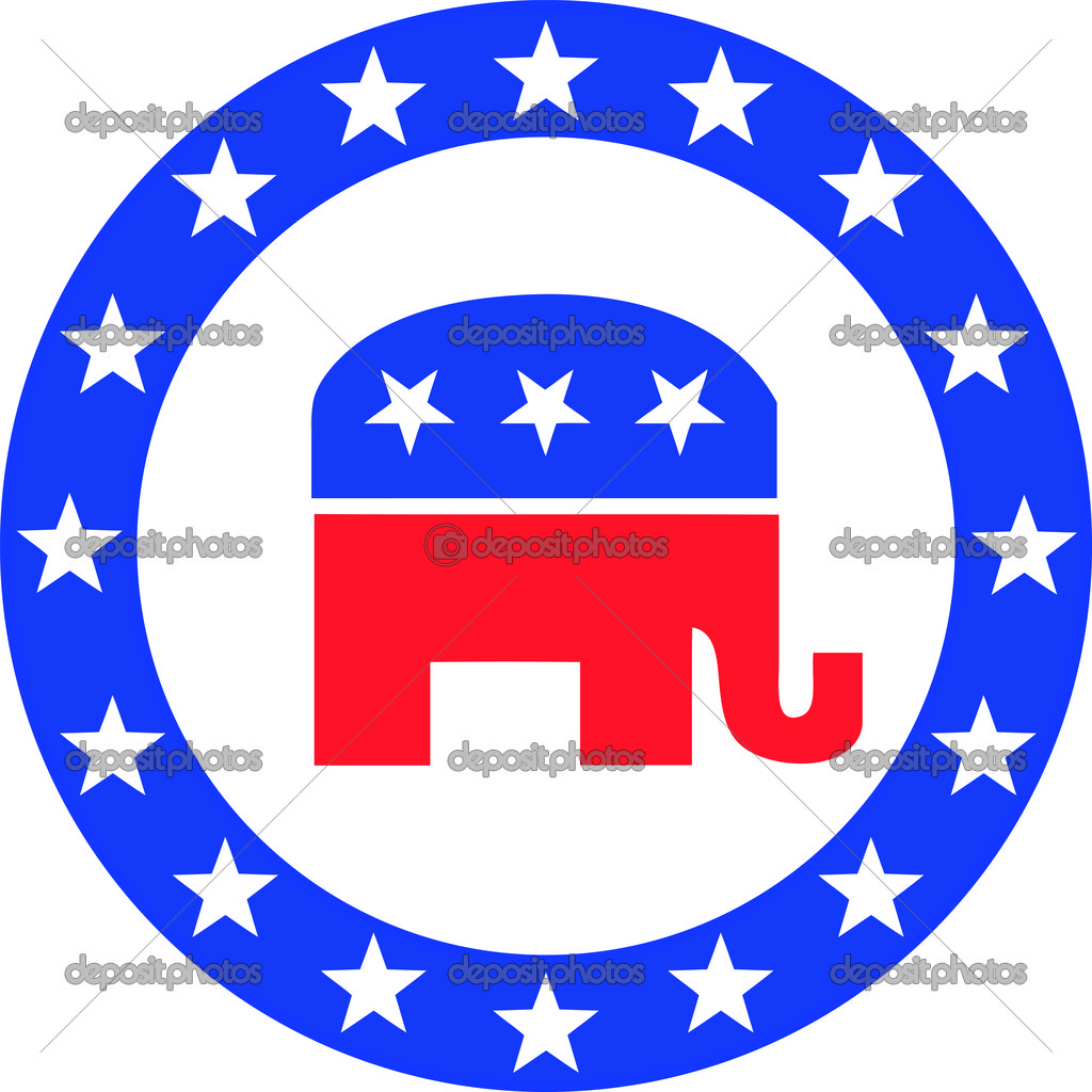 Election Label The Symbol For The Democratic Party In The Us