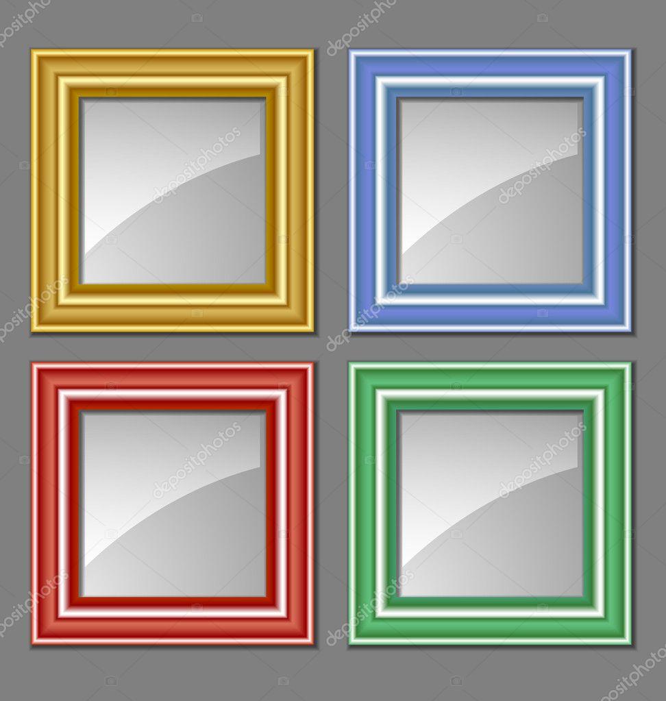 Marcos de colores — Archivo Imágenes Vectoriales © PKIllustrations ...