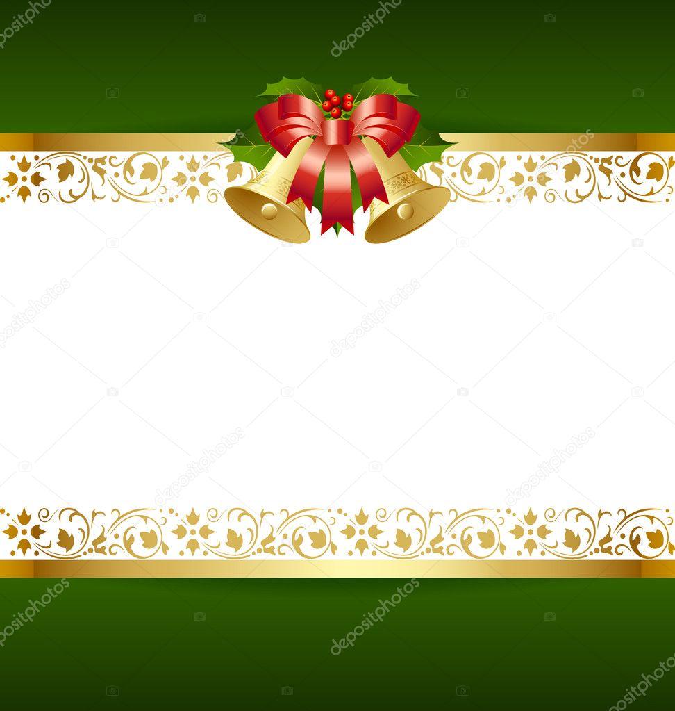 plantilla de tarjeta de Navidad — Archivo Imágenes Vectoriales ...