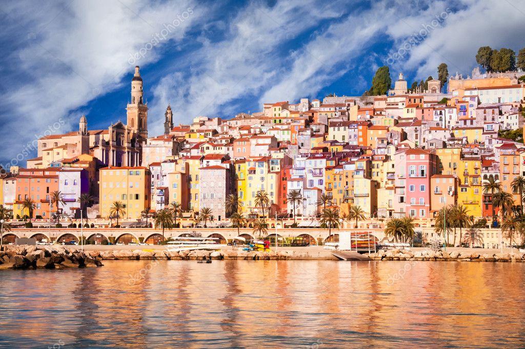 Provence village Menton scenic view