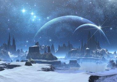 Fantasy Ice Planet