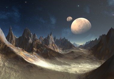 Alien Planet with Moons