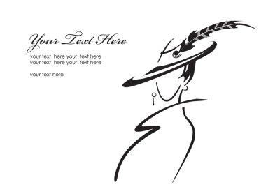 Fashion lady clip art vector