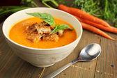 Fotografie mrkvová polévka
