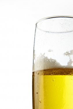 Glass of beer over isolated background