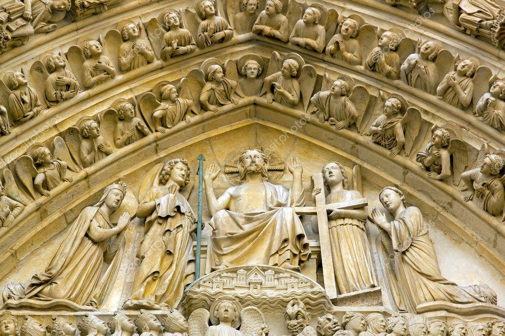 Tag Des Jüngsten Gerichts Notre Dame De Paris Stockfoto